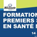 Formation premiers soins de santé mentale avec RésoSanté et La Boussole le 14 et 15 mars 2016