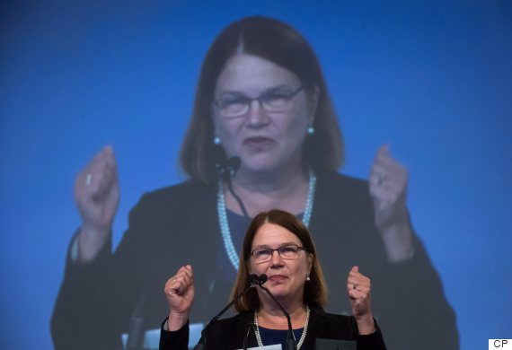 Federal Health Minister Jane Philpott addresses the Canadian Medical Association's General Council 2016, in Vancouver, B.C., on Tuesday August 23, 2016. THE CANADIAN PRESS/Darryl Dyck