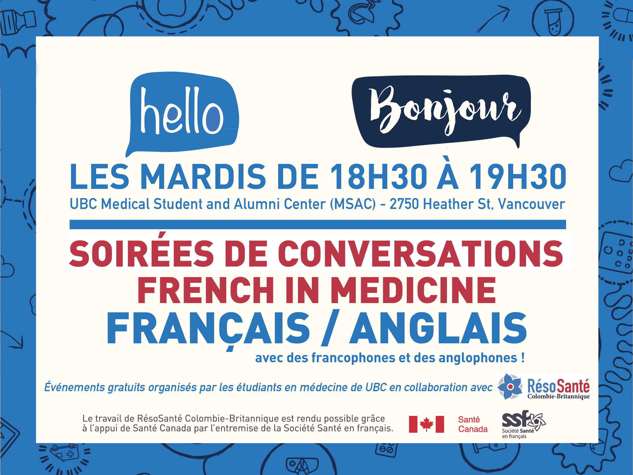 Soirée de conversation French in Medicine