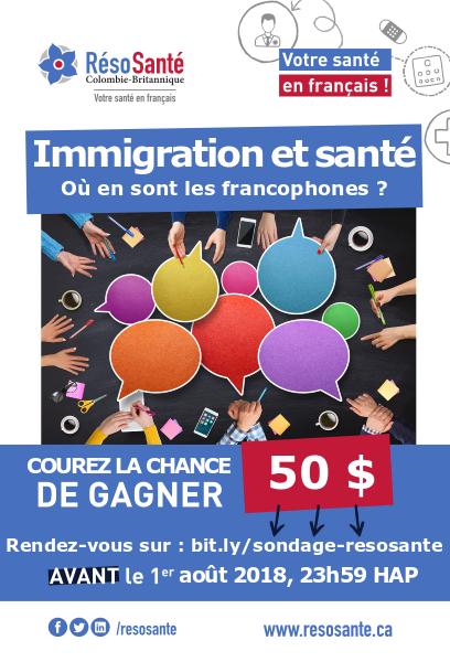 Sondage santé immigrants francophones
